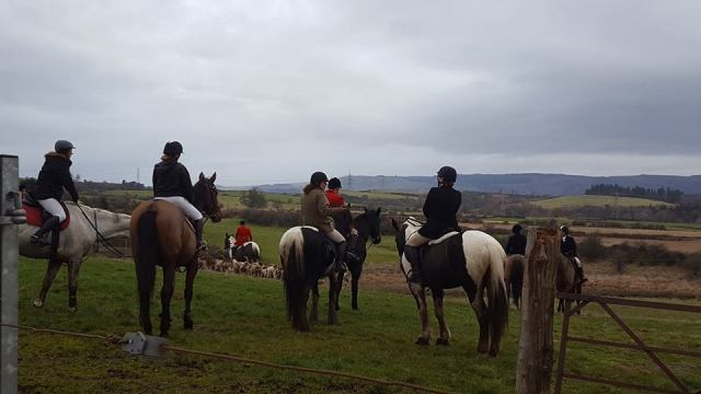 Fox hunters gather.